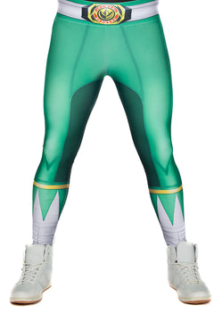 Hasbro Mighty Morphin Power Rangers Green Leggings