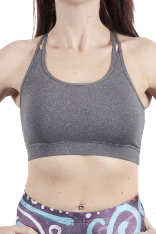 Origins Grey Multi-Strap Fitness Crop Top