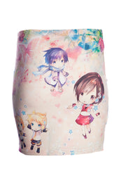 Official Hatsune Miku by Onine Kounit Mini Skirt
