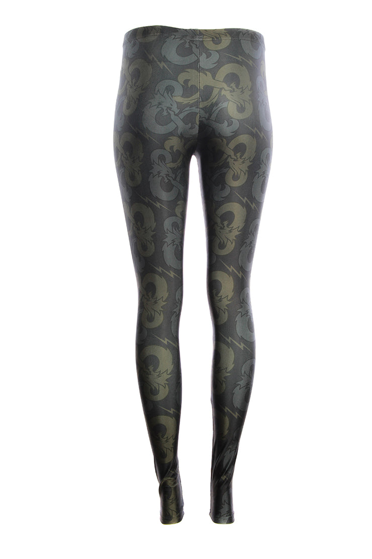 Official Dungeons & Dragons Green Symbol Leggings