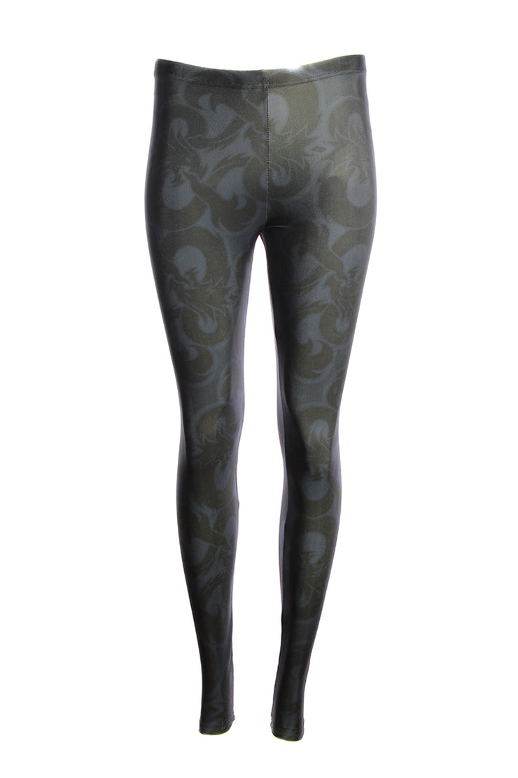 Official Dungeons & Dragons Large Black Logo Leggings
