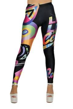 Jason Naylor Live Life Graffiti Art Leggings