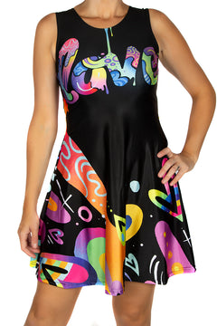 Jason Naylor LOVE Graffiti Art Skater Dress