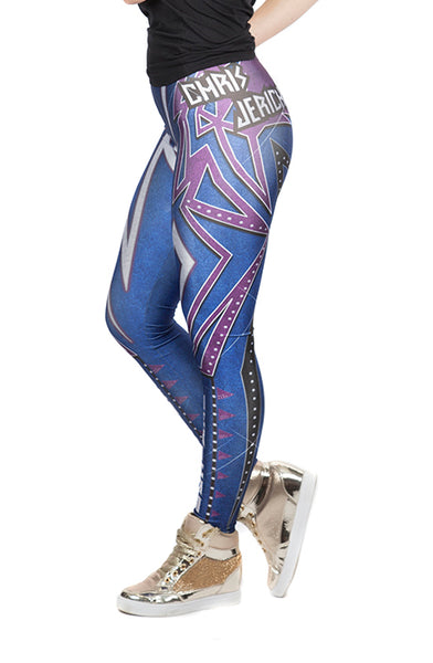 "KIDS ""Y2J"" Chris Jericho WWE Leggings"