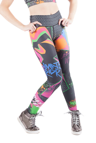 """Feel The Power"" Ultimate Warrior WWE Fitness Leggings"