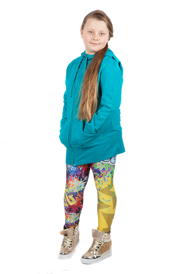 "KIDS WWE Bayley ""Huggers Gonna Hug"" Leggings"