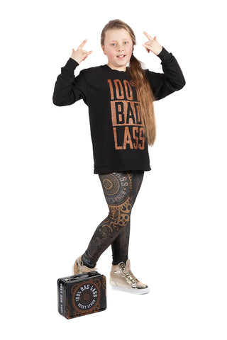 "KIDS ""Bad Lass"" Becky Lynch WWE Leggings"