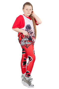 "KIDS WWE Shawn Michaels ""HBK"" Leggings"