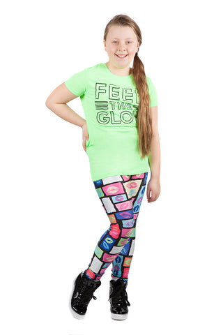 "KIDS ""Amazing"" Naomi WWE Leggings"