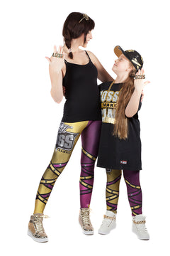 "KIDS WWE Sasha Banks ""Legit Boss"" Leggings"