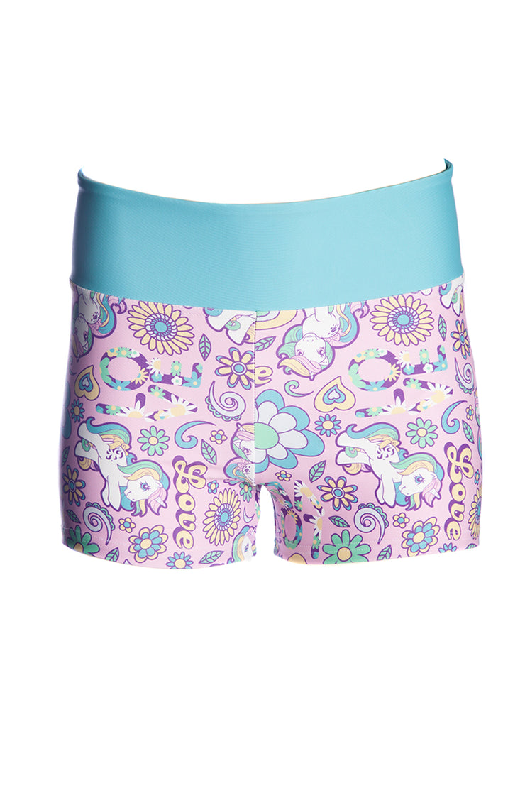 Official Hasbro My Little Pony Love & Flowers Booty Shorts