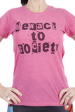 Menace To Society T-Shirt Ladies Pink