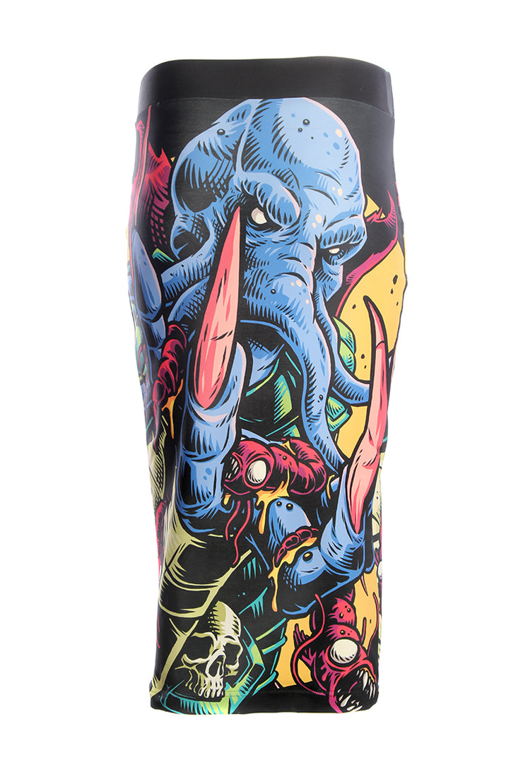 Official Dungeons & Dragons Official Mindflayer Pencil Skirt