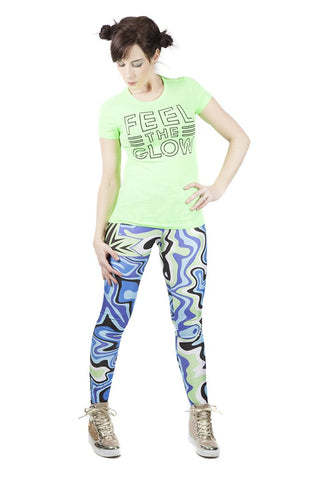 "KIDS ""Feel the Glow"" Naomi WWE Leggings"
