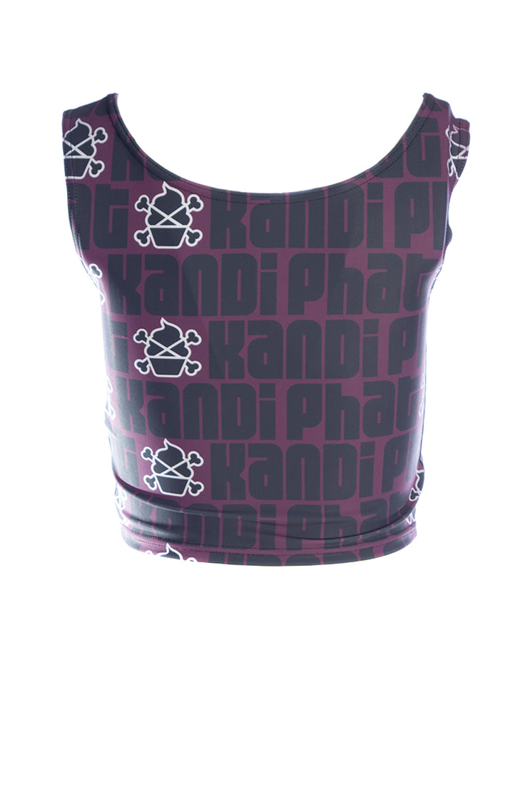 Official Phat Kandi Muffin Logo Fitness Crop Vest Top