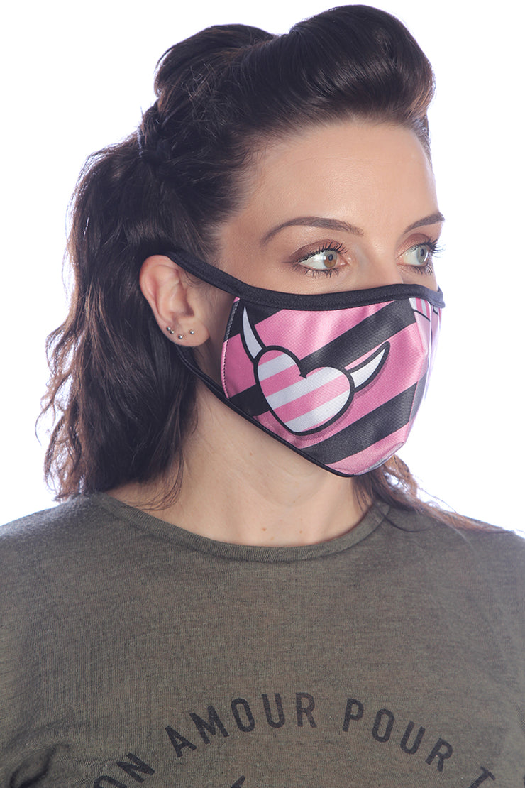 Official Phat Kandi Devil Hearts Face Mask