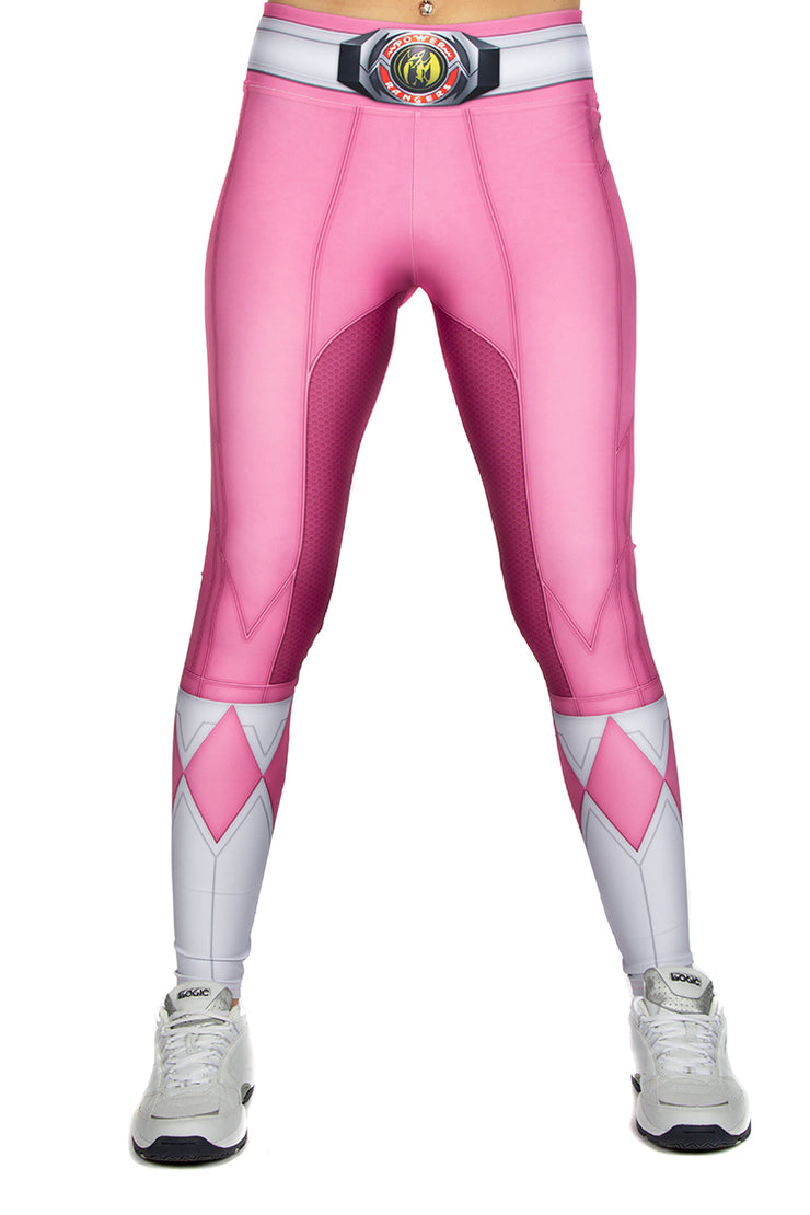 Official Hasbro Mighty Morphin Power Rangers Pink Leggings