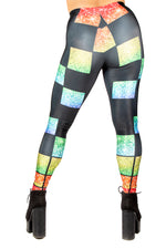 Pride Glitter Blocks Leggings