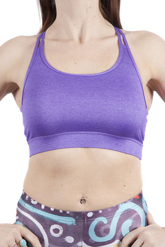 Origins Lilac Multi-Strap Fitness Crop Top