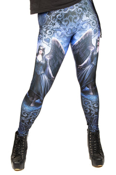 Anne Stokes Raven Leggings