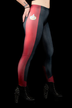 Star Trek The Next Generation Command Red Leggings