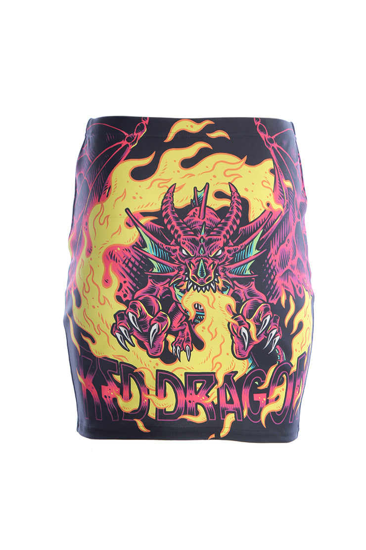 Official Dungeons & Dragons Official Red Dragon Mini Skirt