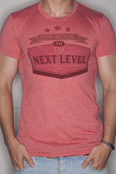 Next Level T-Shirt Mens Red