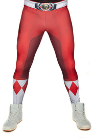 Official Hasbro Mighty Morphin Power Rangers Red Leggings