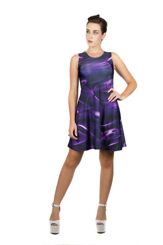 Dark @ Heart River of Souls Purple Dress by Kellee Art