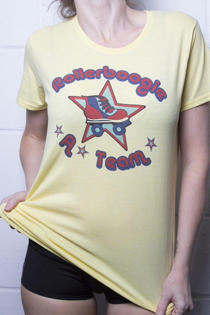 Rollerboogie T-Shirt Ladies Yellow
