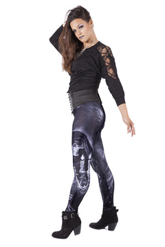 UK Leggings Skulls Gothic Anne Stokes