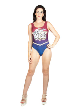"WWE Sasha Banks ""Legit Boss"" Swim Body Suit"