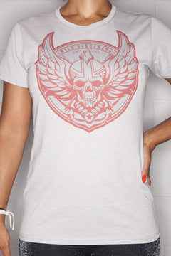 Logo T-Shirt Ladies Silver