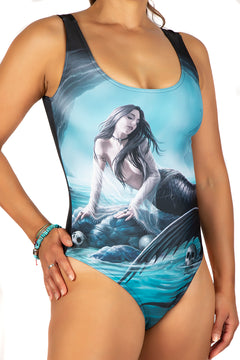 Anne Stokes Siren's Lament Body Swim Suit