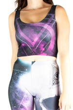 Alchemy England Galaxy Skull Vest Crop Top
