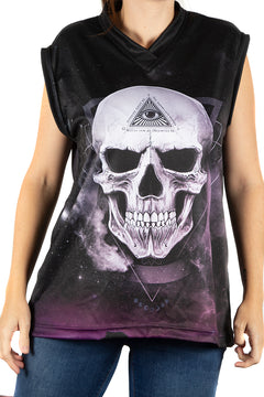 Alchemy England Galaxy Skull Tank Top