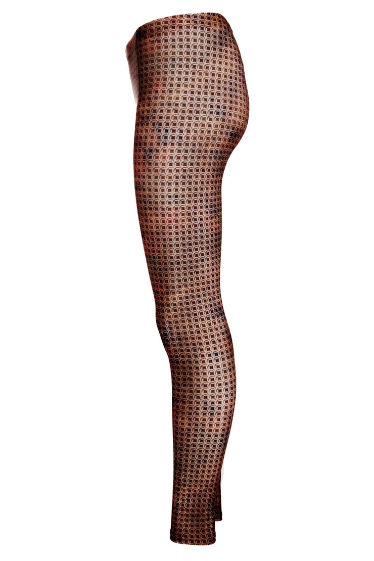 WILD BANGARANG Cosplay Copper Tight Knit Chainmail Leggings