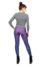 Tokidoki Cross The Bones Blue Purple Skull Leggings