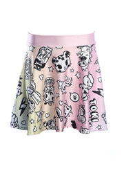 Official Tokidoki Pastel Party Skater Skirt