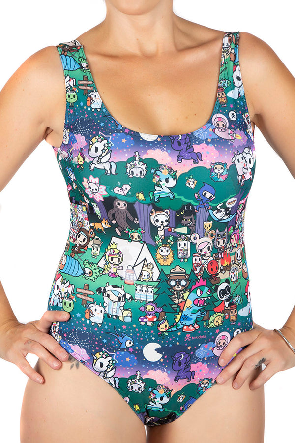 Tokidoki Camp Toki Swim Body Suit