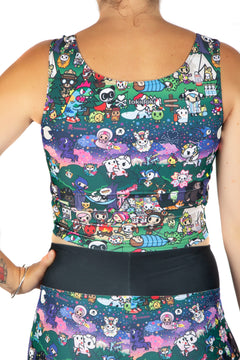 Tokidoki Camp Toki Vest Crop Top