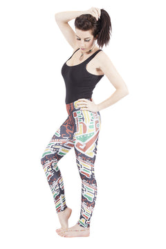 "Tribal ""Earth"" Leggings"