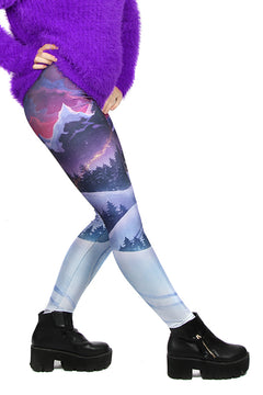 KIDS Wild Bangarang Christmas Winter Wonderland Leggings
