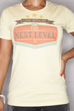 Next Level T-Shirt Ladies Yellow
