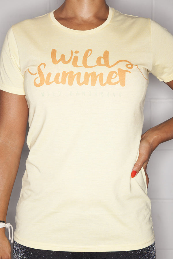 Wild Summer T-Shirt Ladies Yellow