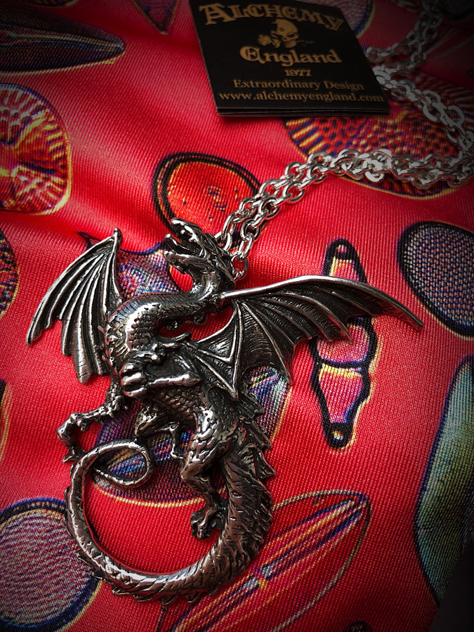 Whitby Wyrm Dragon Necklace