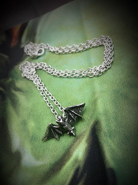 Alchemy Gothic Jewllery Kiss of the Night Bat Necklace