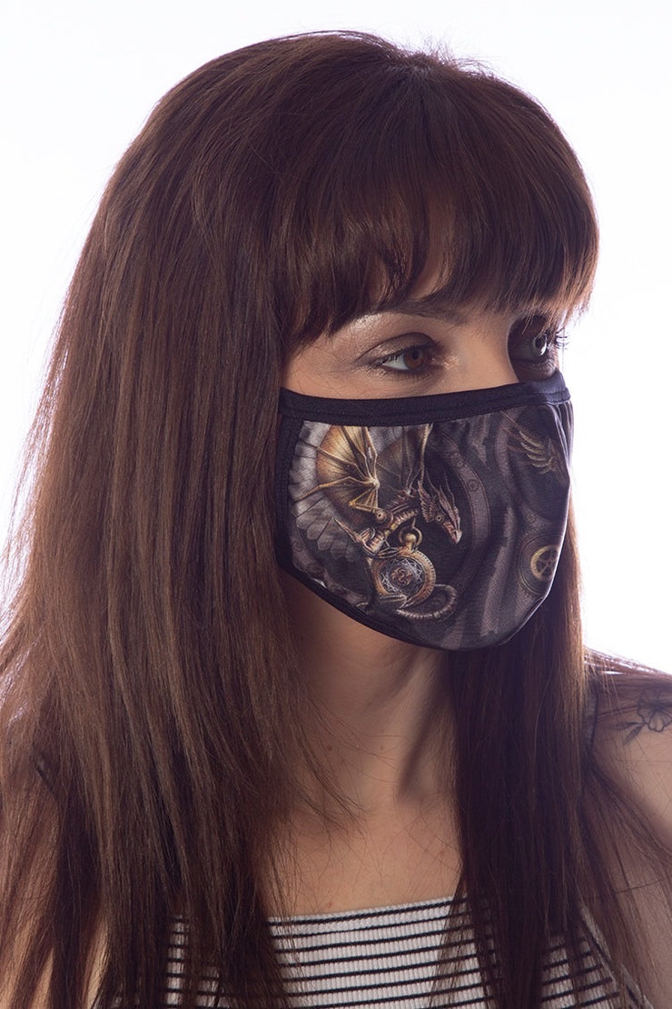ANNE STOKES CLOCKWORK DRAGON Face Mask
