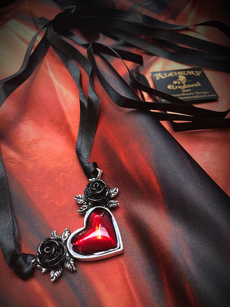 Alchemy Gothic Jewellery Bloodheart Necklace