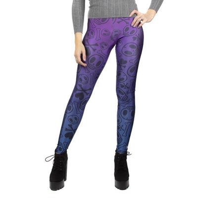 KIDS Cross The Bones Blue Purple Skull Tokidoki Leggings
